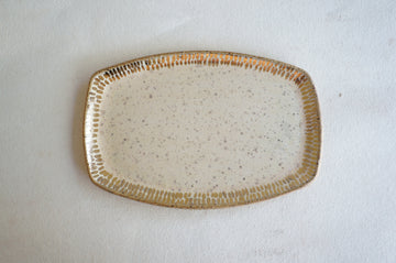 Cream + Gold Speckled Tray