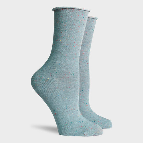 Helena Crew Sock - Grey Speckle