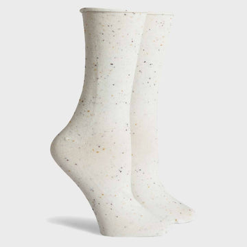 Helena Crew Sock - Cream Speckle