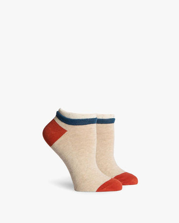 Cassat Low Top Sock - Oatmeal & Cream