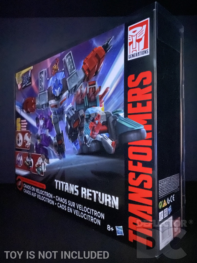 Transformers Generations Titans Return Chaos On Velocitron Display Case