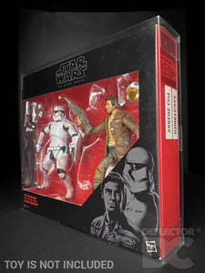 Star Wars The Black Series 6 Inch Poe & Riot Control Stormtrooper Display Case