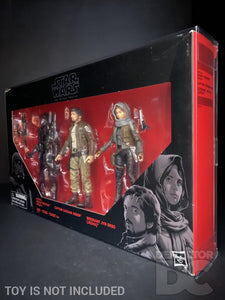 Star Wars The Black Series 6 Inch Rogue One 3 Pack Display Case