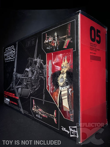Star Wars The Black Series 6 Inch Enfys Nest with Swoop Bike Display Case