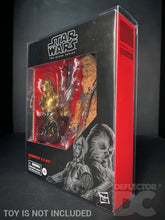 Load image into Gallery viewer, Star Wars The Black Series 6 Inch Chewbacca & C-3PO Display Case