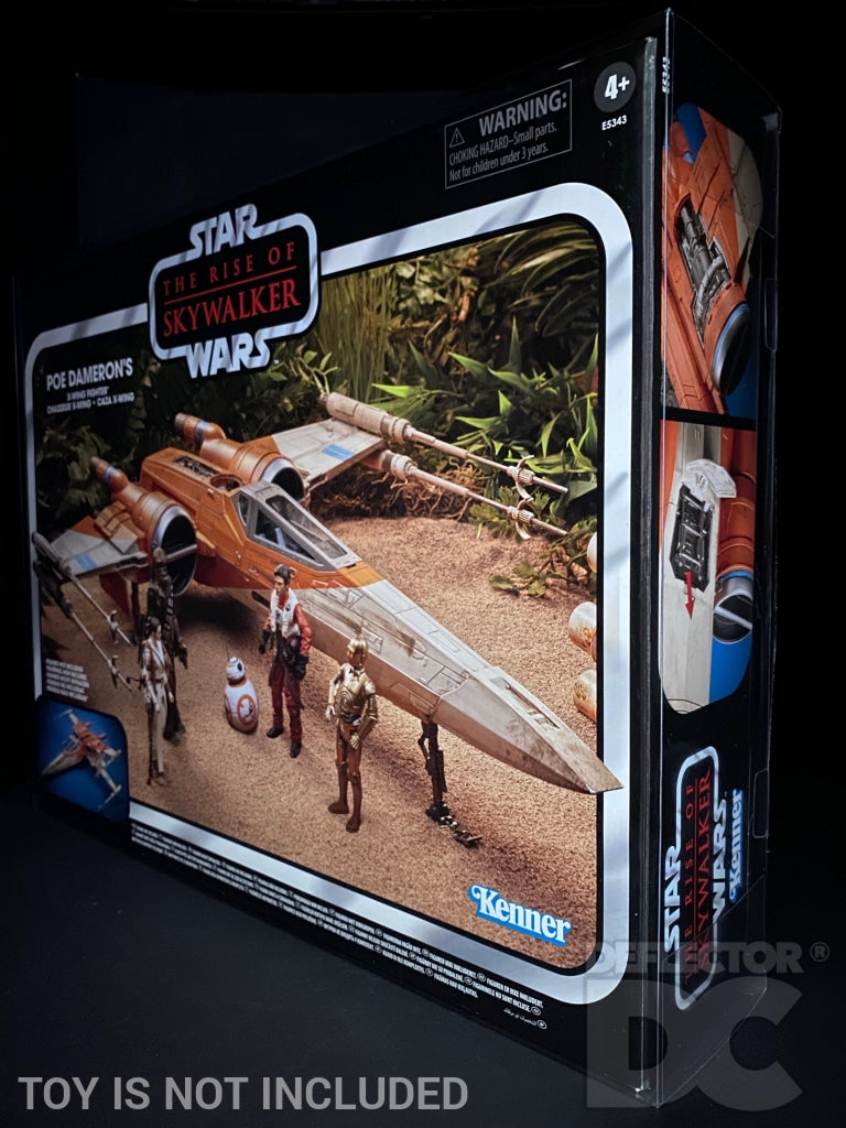 Star Wars The Vintage Collection Poe Dameron's X-Wing Fighter Display Case