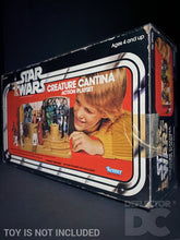 Load image into Gallery viewer, Star Wars Vintage Creature Cantina Action Playset Display Case