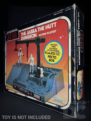 Star Wars Vintage The Jabba The Hutt Dungeon Action Playset Display Case