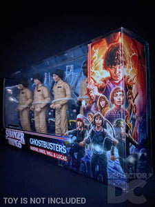 Stranger Things Ghostbusters 4 Pack Display Case