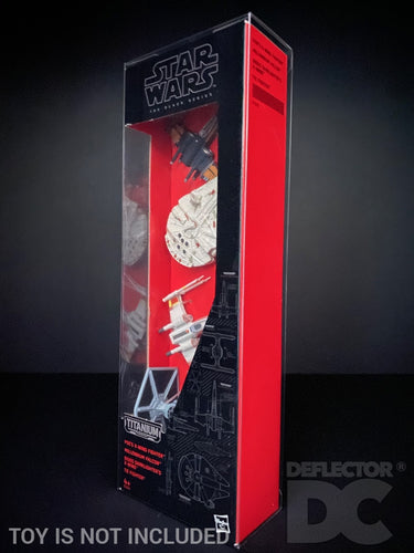 Star Wars Titanium Series Vehicle 4 Pack Display Case