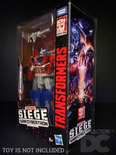 Load image into Gallery viewer, Transformers Siege War for Cybertron Leader Class Display Case
