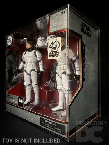 Star Wars Elite Series 40th Anniversary Han & Luke Stormtrooper Display Case