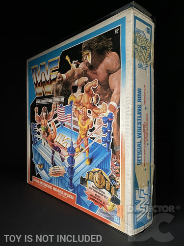 WWF Hasbro Official Wrestling Ring Display Case