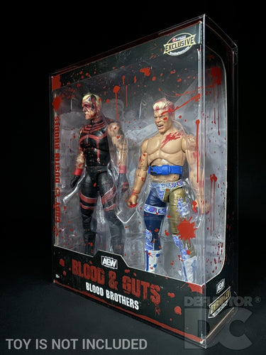 AEW Unrivalled Collection Blood Brothers Display Case