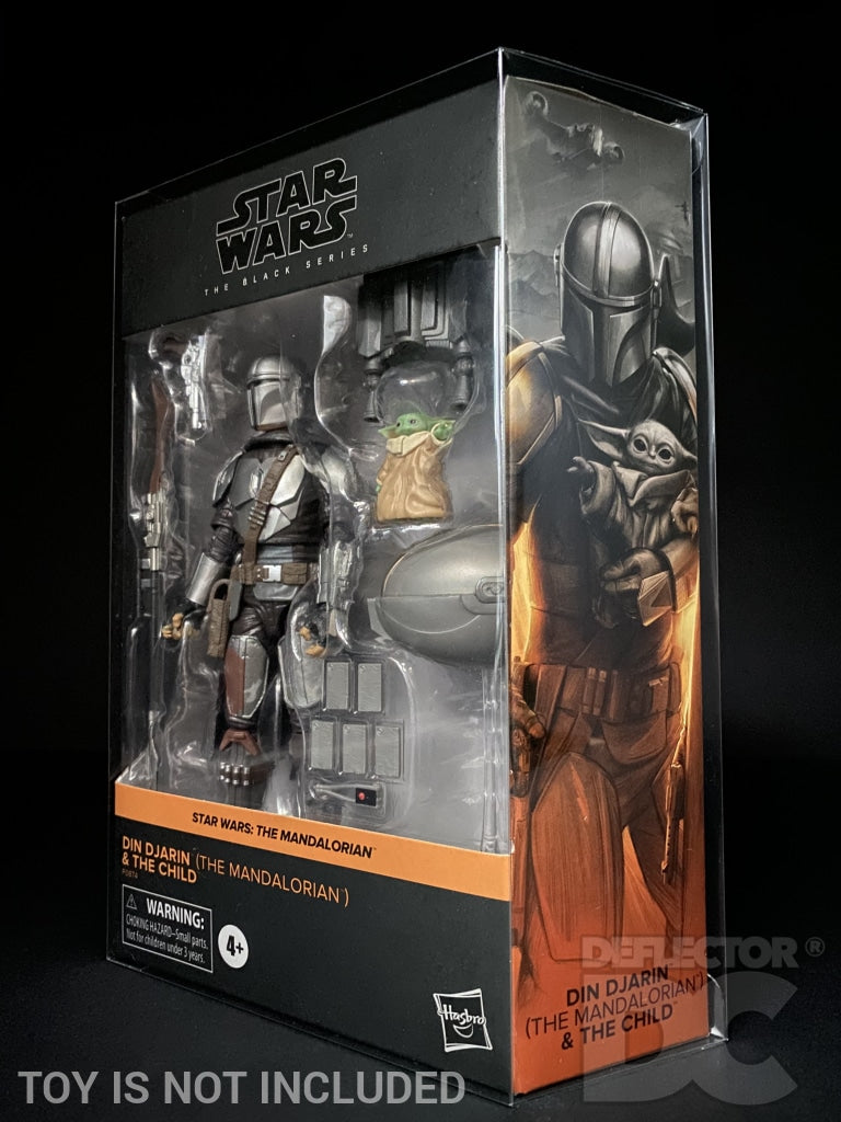 Star Wars The Black Series Deluxe Din Djarin (The Mandalorian) & The Child Figure Display Case