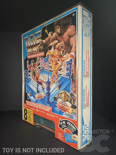 WWF Hasbro Official Wrestling Ring with Sound Effects Keyboard Display Case
