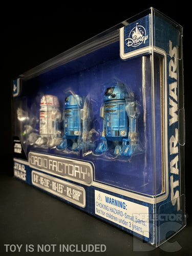 Star Wars Disney Parks Droid Factory 4 Pack Figure Display Case