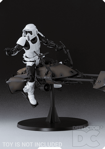 Star Wars Bandai S.H. Figuarts Scout Trooper and Speeder Bike ROTJ Display Case