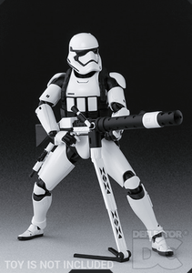 Star Wars Bandai S.H. Figuarts First Order Stormtrooper Heavy Gunner TFA Display Case
