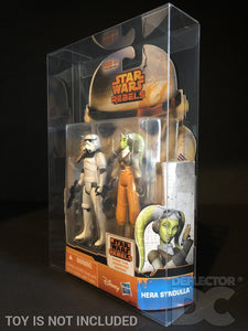 Star Wars Rebels 2 Pack 3.75 Inch Figure Display Case