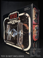Load image into Gallery viewer, Star Wars Vintage Battle Damaged Imperial Tie Fighter Display Case
