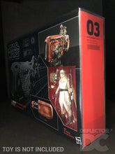 Load image into Gallery viewer, Star Wars The Black Series Rey Speeder Display Case