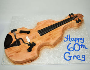 McArthur's Bakery Custom Cake with Violin Cutout