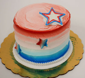Red, White, and Blue Cake with Stars Cake