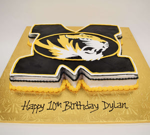 McArthur's Bakery Custom Cake with Mizzou Tiger cutout