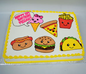 Kids Favorite Foods Cake