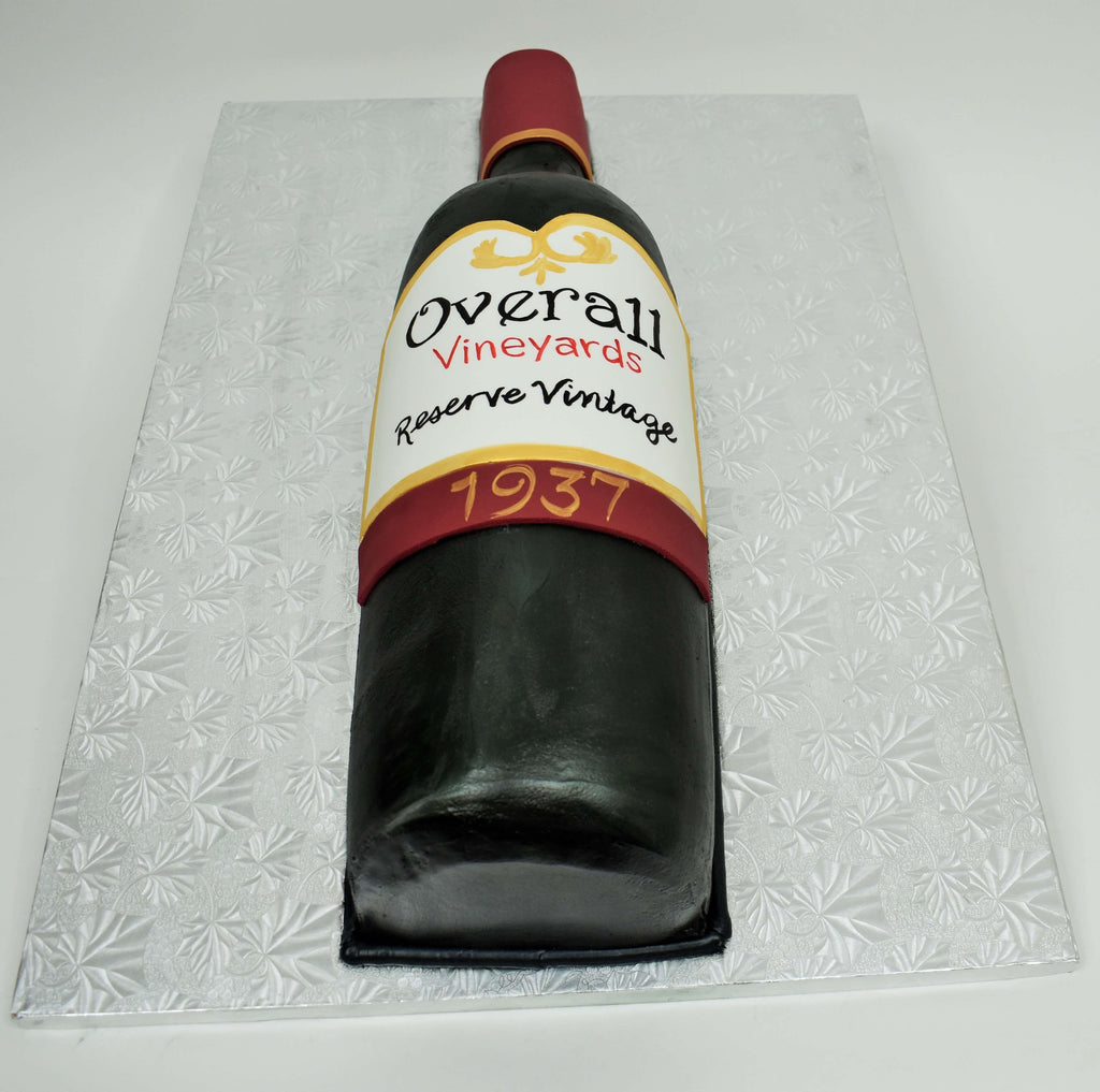 MaArthur's Bakery Custom Cake with Wine Bottle Cut Out