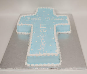 McArthur's Bakery Custom Cake with Blue Cross Cutout