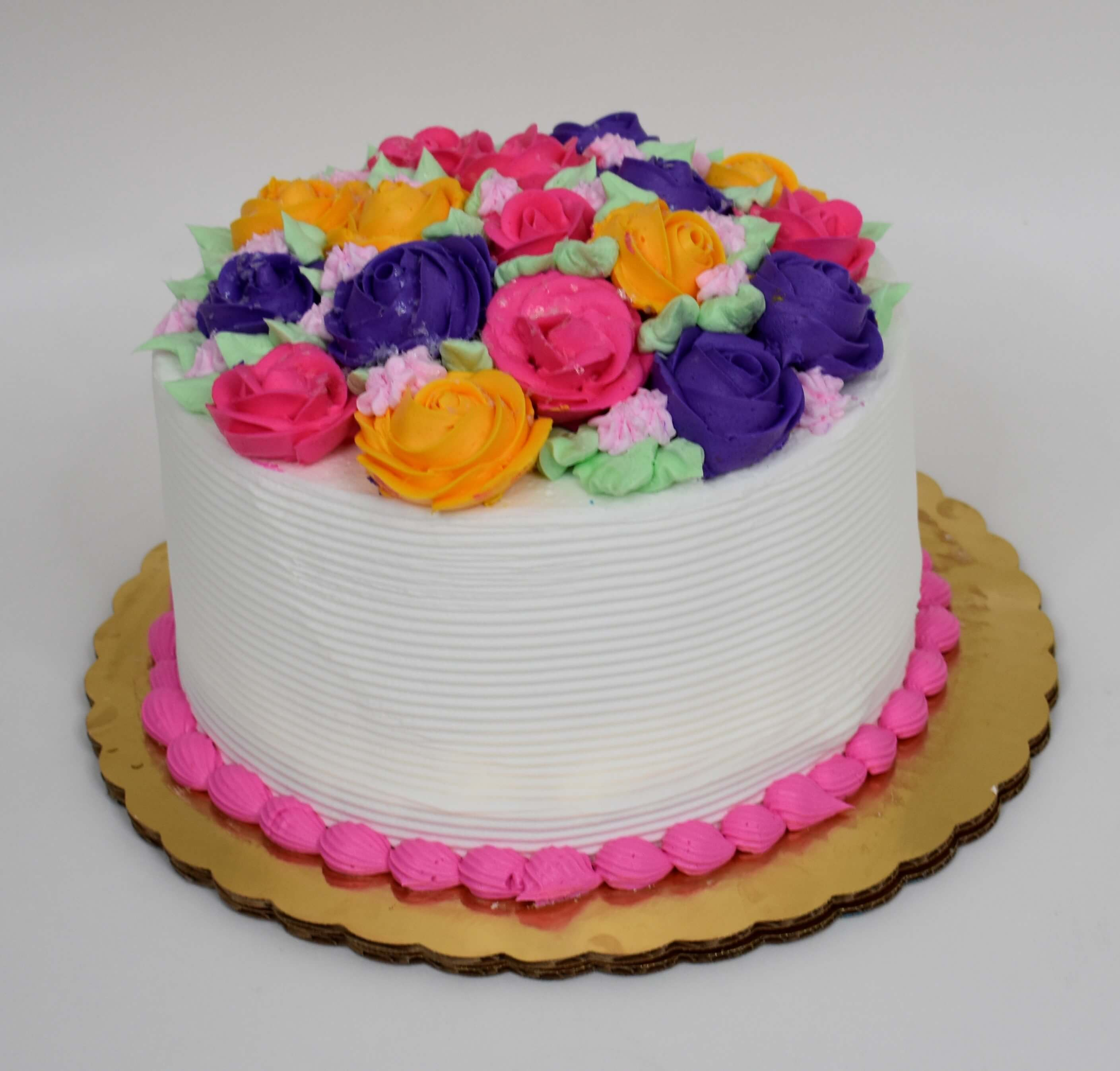 Bouquet Of Roses Cake