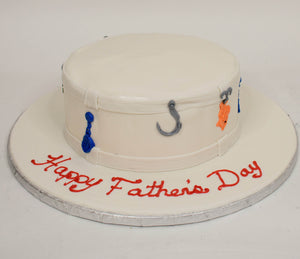 MaArthur's Bakery Custom Cake with Fishing Lure, Hat,