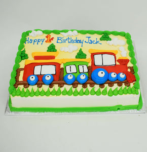 McArthur's Bakery Custom Cake with Kids Train