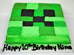 McArthur's Bakery Custom Cake with a Minecraft Theme