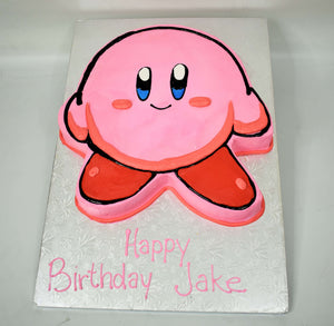 McArthur's Bakery Custom Cake with a Kirby Cut Out