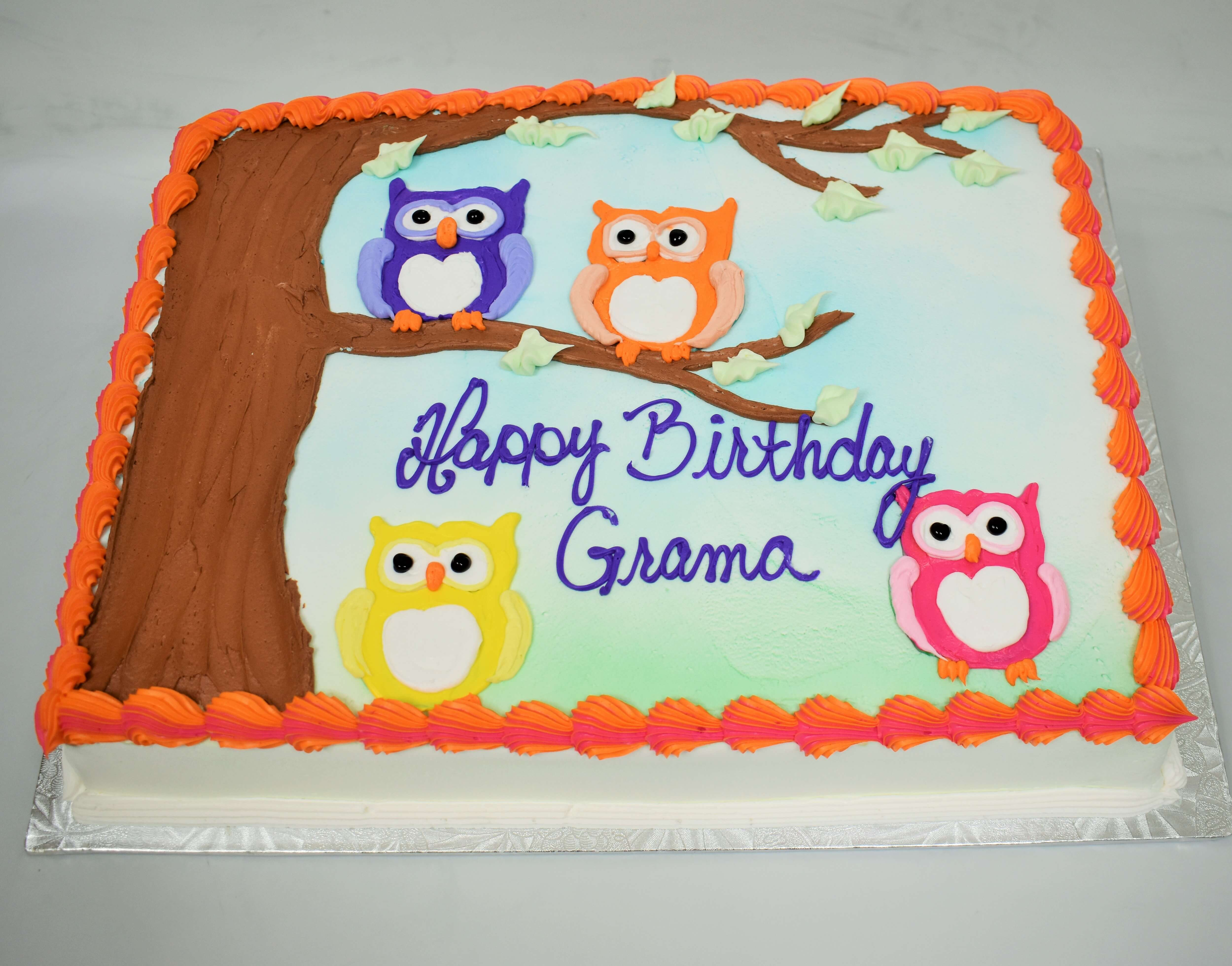 Four Little Owls Cake