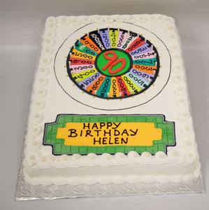 McArthur's Bakery Custom Cake with Wheel of Fortune Spinner