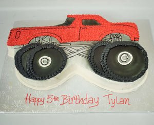 McArthur's Bakery Custom Cake with a Monster Truck Cut Out