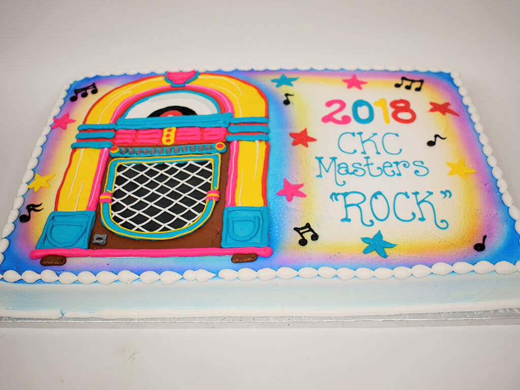 McArthur's Bakery Custom Cake with Colorful Jukebox