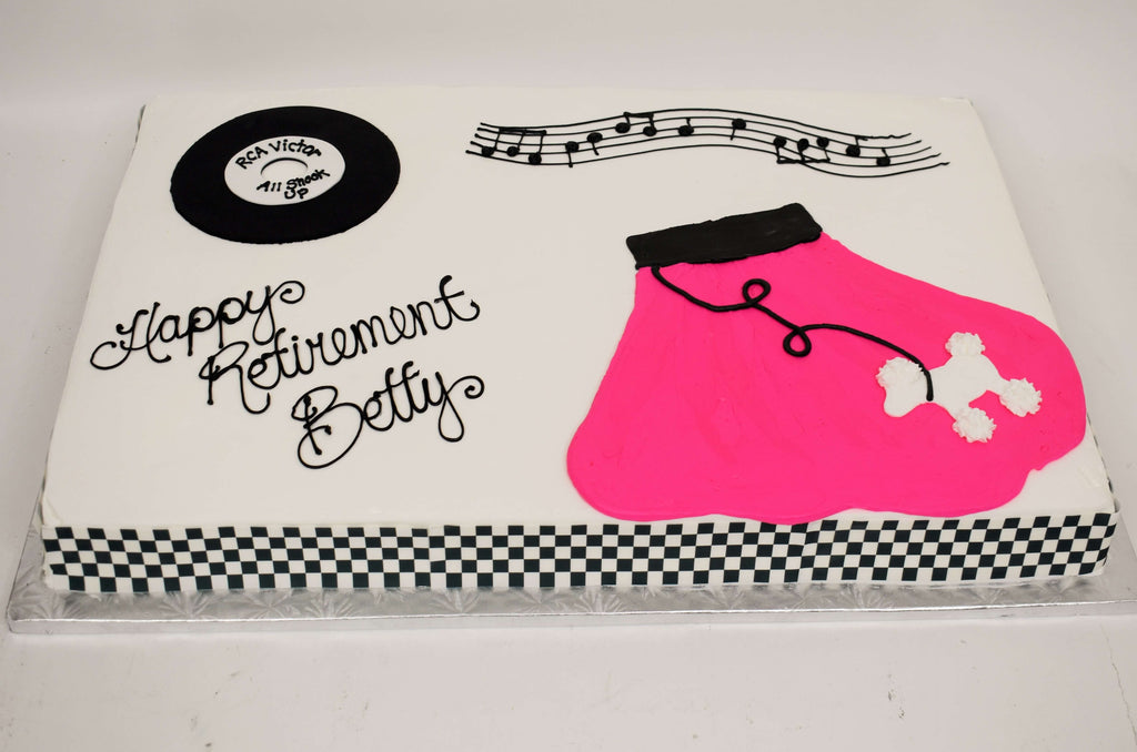 McArthur's Bakery Custom Cake With 50's Poodle Skirt