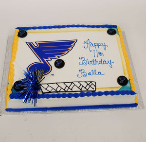 McArthur's Bakery Custom Cake With St. Louis Blues Logo
