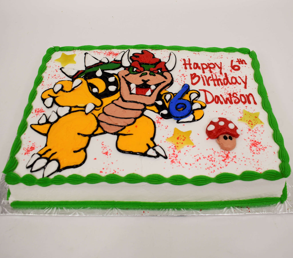 McArthur's Bakery Custom Cake With Super Mario's Bowser Character