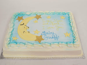 McArthur's Bakery Custom Cake With Sleeping Crescent Moon