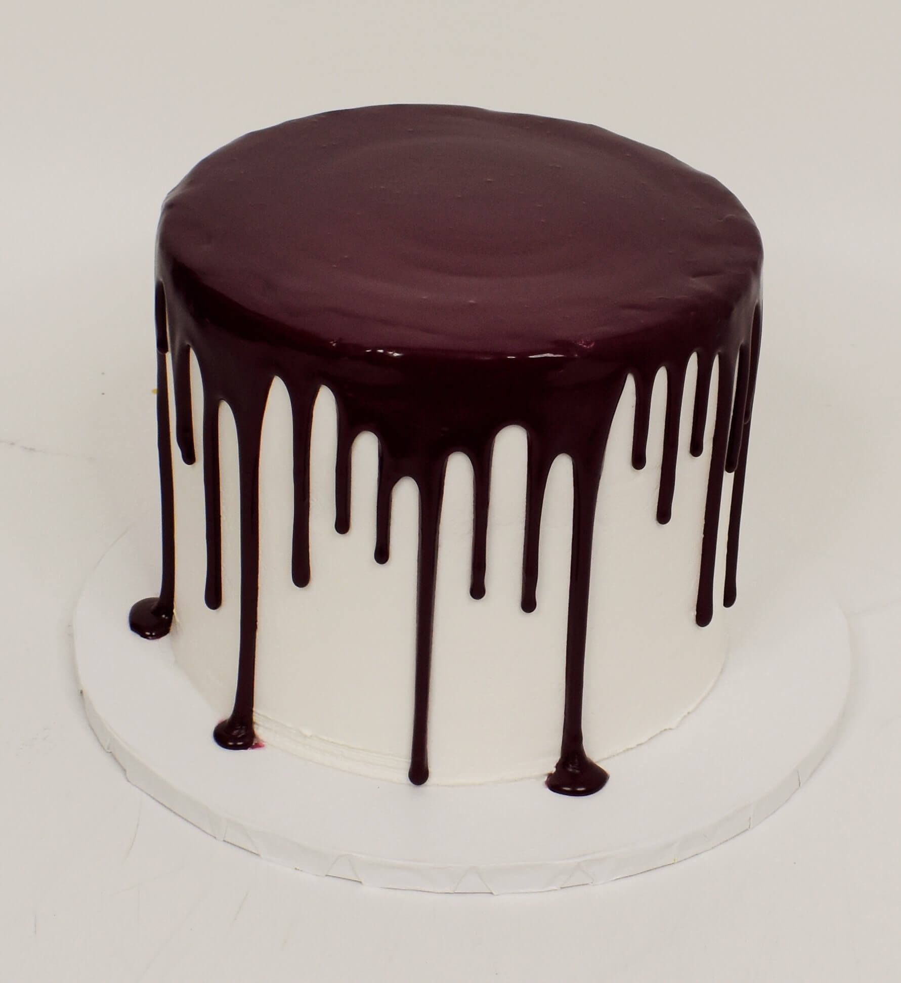 McArthur's Bakery Custom Cake With Chocolate Icing Dripping Down Cake
