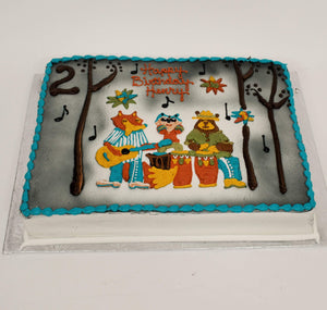 McArthur's Bakery Custom Cake With Animal Band Playing Instruments