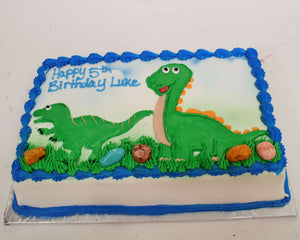 McArthur's Bakery Custom Cake With Dinosaurs Playing