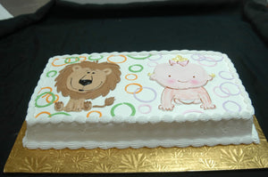 McArthur's Bakery Custom Cake with a Baby and Lion