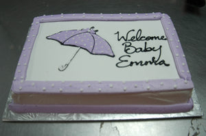 Purple and Polka Dots Umbrella Cake